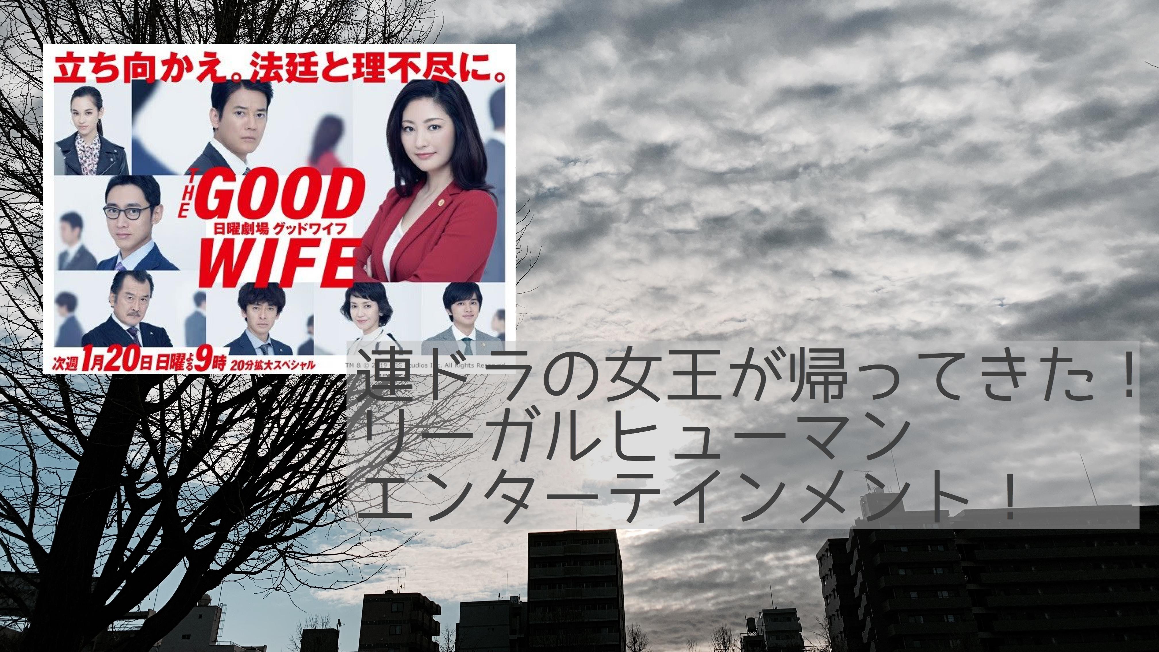 【常盤貴子主演】弁護士ドラマ「グッドワイフ」